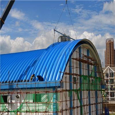 无梁拱形金属波纹钢屋盖