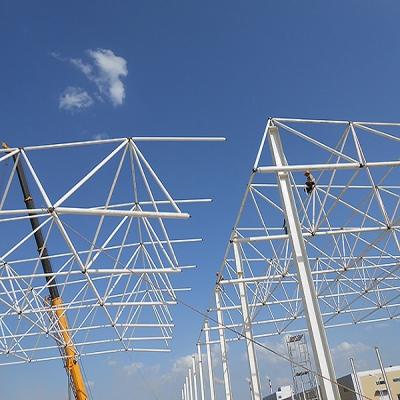 物流仓库网架结构+钢结构工程