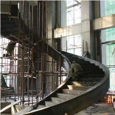板式旋转钢楼梯