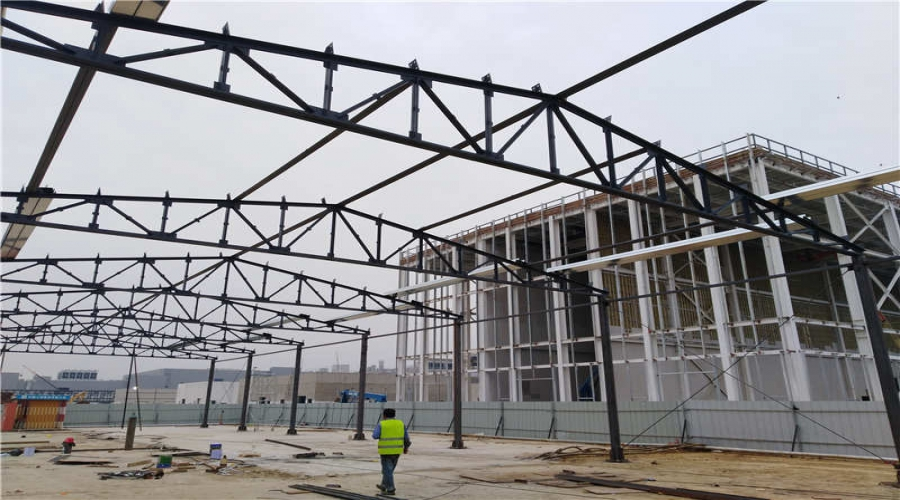 武汉京东方钢结构货棚/钢结构雨棚